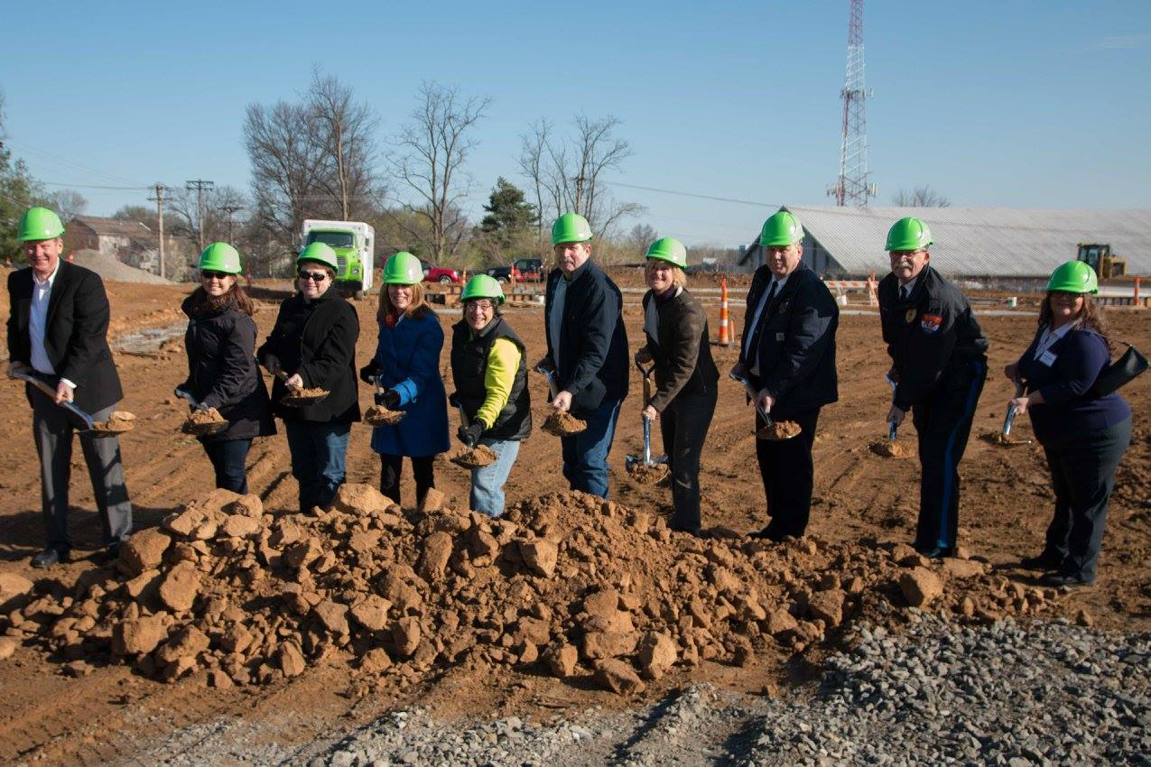 Groundbreaking Group Photo with Task Force